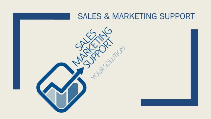 Sales marketing support Nieuw Logo nieuws